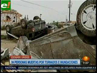 EEUU: 24 muertos por tormentas, inundaciones y tornados