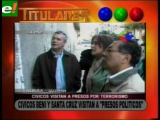 Cívicos de Santa Cruz y Beni visitan a los presos políticos