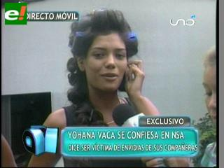 Johana Vaca se confiesa a pocas horas del Miss Santa Cruz