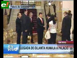 Humala y Keiko se reunieron con tres presidentes por 25 minutos