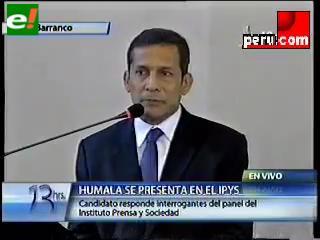 Ollanta afirma que respeta a la prensa