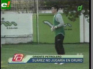 Hugo Suárez se lesionó y es duda