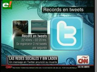 Twitter bate récords por Osama Bin Laden