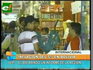 BID prevé que la inflación de 2011 supere el 5 %