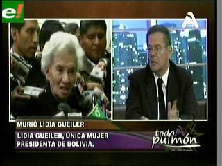"""Nieto de Lidia Gueiler: """"Mi abuela tiene un sitial ganado en Bolivia y América Latina"""""""
