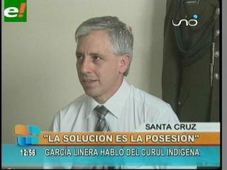 """García Linera: """"El problema de la Asamblea se soluciona con la posesión de Gutiérrez"""""""