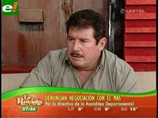 Ronald Moreno pregunta si Javier Limpias estaba negociando con el MAS