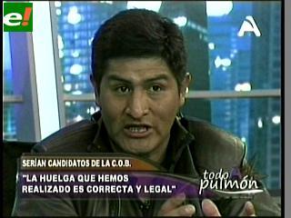 """Candidato a la COB Guido Mitma: """"No tenemos color ni tinte político»"""