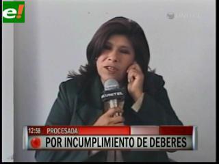 Alcaldesa de Oruro dice que el MAS busca tumbarla