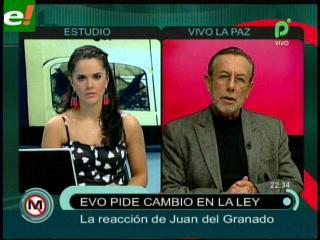 """Del Granado: """"Evo contradijo a los levantamanos que tiene en la Cámara de Diputados"""""""