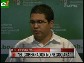 La Gobernación dice que no aceptará chantajes