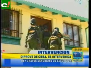 Intervienen DIPROVE Cochabamba