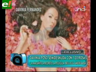 Davinia Fernández posa semidesnuda
