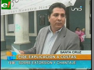 """Diputado Salces exige a Rubén Costas """"dar nombres de los supuestos chantajistas"""""""