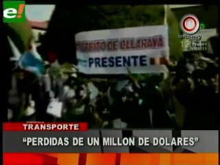 Transportistas perdieron más de un millón de dólares en 22 días de bloqueo
