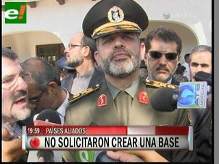 Ministro de Defensa iraní ofrece ayuda militar a Bolivia