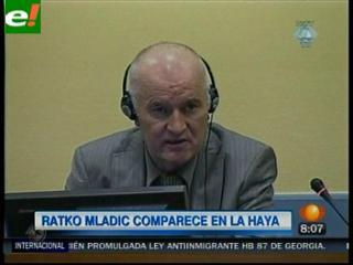 Mladic comparece por primera vez ante el Tribunal Penal de La Haya