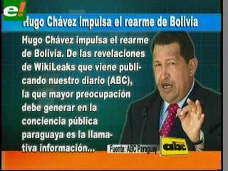 Hugo Chávez impulsa el rearme de Bolivia