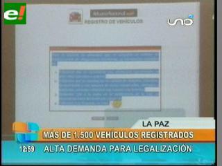 """Ya se registraron 1.500 vehículos """"chutos"""""""