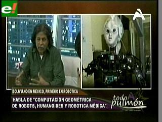 José Bayro busca crear una fábrica de robótica en Bolivia