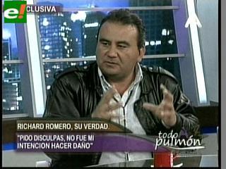 """Richard Romero rompe el silencio: """"Me pusieron una mordaza"""""""