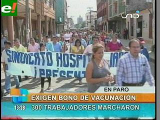 Trabajadores de salud protestan y cumplen paro de 24 horas
