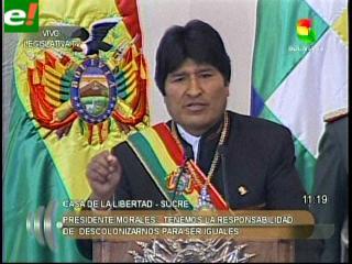 """Evo Morales: """"Quieren desgastar al indio"""""""