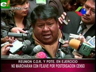 La COR de El Alto no se sumará al paro convocado por la Fejuve