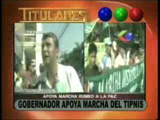 Suárez apoya la marcha del TIPNIS