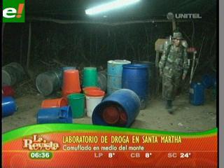 Felcn desmantela laboratorio de cocaína en Santa Marta