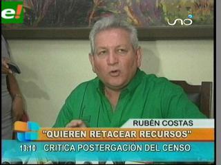 Costas reaparece para criticar la postergación del Censo