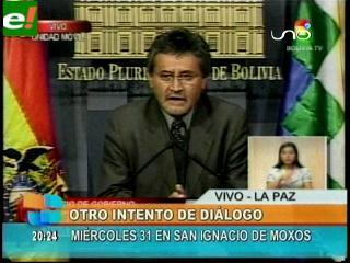 Gobierno invita otra vez a indígenas del TIPNIS a dialogar en San Ignacio de Moxos