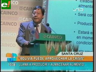Ministro Arce dice que Bolivia debe aprovechar la crisis mundial para producir más alimentos