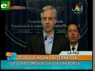 García Linera dice que la carretera deberá pasar por el TIPNIS