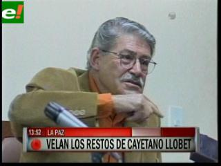 Cayetano Llobet será sepultado mañana en La Paz