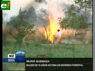 Anciana muere por el fuego en Guarayos