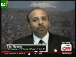"César Guedes: ""Bolivia es un país productor de cocaína"""