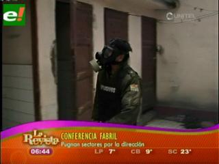 Una granada de gas detona en puertas de la Federación de Fabriles de La Paz