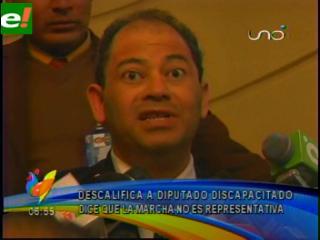 Romero afirma que solo son 20 discapacitados los que marchan a La Paz