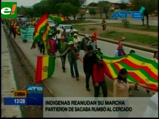 Marcha del Conisur se aproxima al centro de Cochabamba