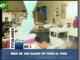 Más de 350 casos de dengue en el país
