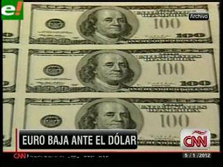 El euro inicia 2012 a la baja frente al dólar