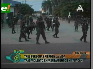 A cuatro se elevó el número de muertos en Yapacani. La Policía se retiró
