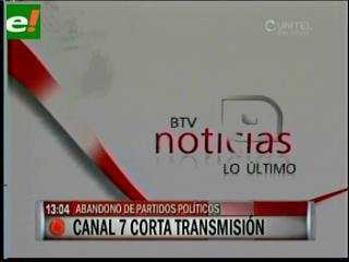 Canal 7 cortó la transmisión cuando el MSM, UN y MNR abandonaron la Cumbre