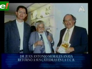 Juan Antonio Morales retornó a dar cátedra en la UCB