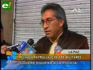 Ex Viceministro Torrico critica y rechaza patrullaje de premilitares