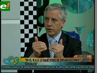 """García Linera: """"Evo tiene derecho a un segundo mandato en el Estado Plurinacional"""""""