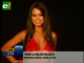 La paceña Mariana García tiene la mejor silueta del Miss Bolivia 2012