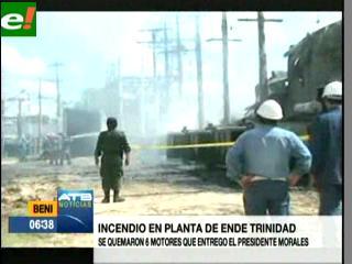 Incendio causa apagones en Trinidad