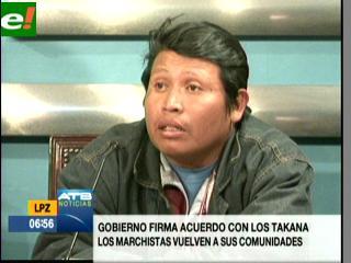 Dirigentes de los Tacana Amazónico firman acuerdo con Gobierno y anuncian repliegue